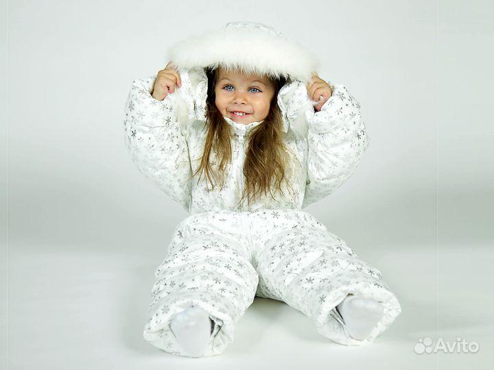 Зимний детский комбинезон на пуху Метель Бирюзовая.