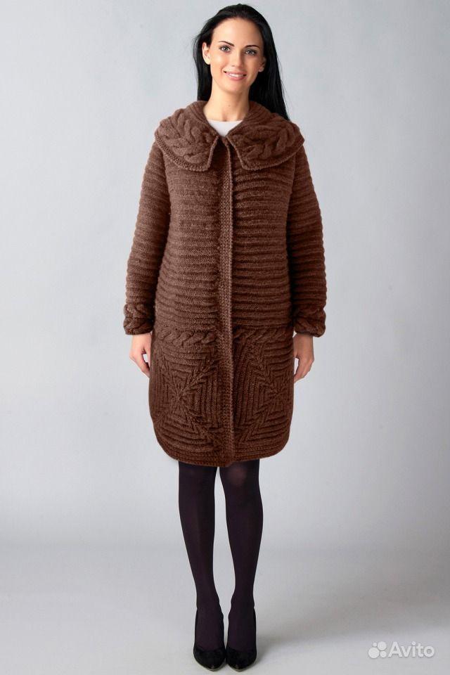 Вяжем пальто для весны