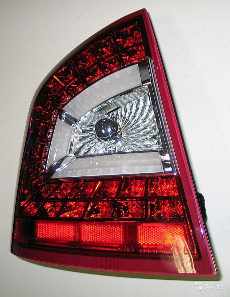 Тюнинг оптика задняя для Skoda Octavia A5, фонари тюнинг LED Запорожье - из