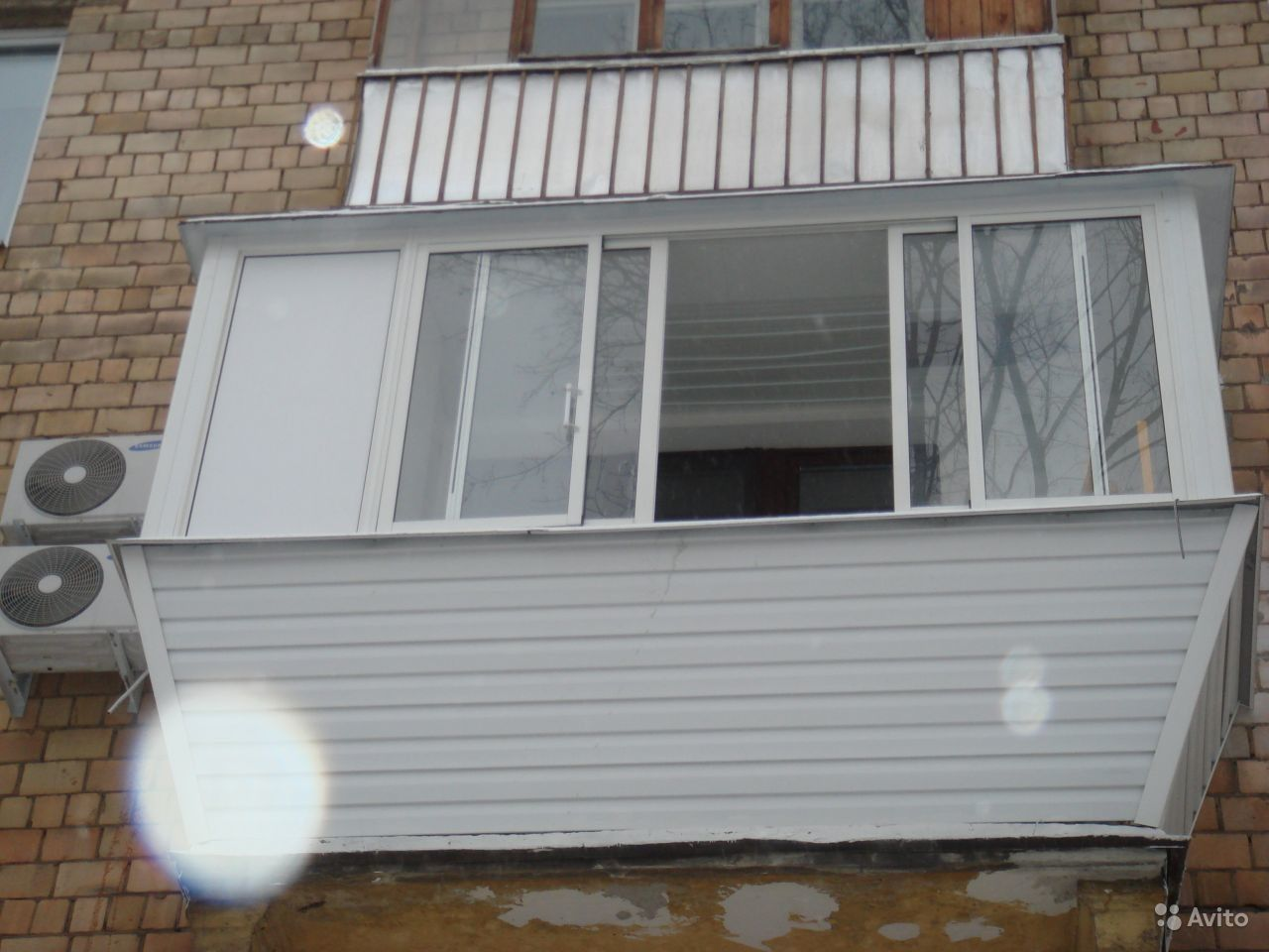 Конструкция раздвижного балкона с тремя стеклами. - новый ди.
