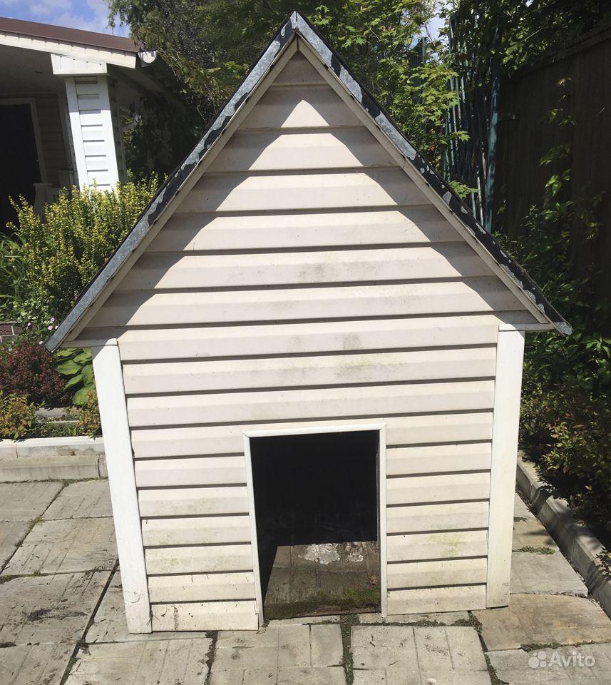 Теплая будка для собаки с подарком