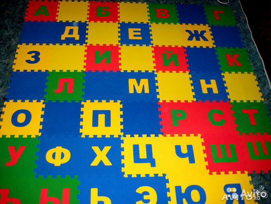 Развивающий коврик русский алфавит