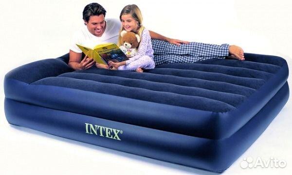 intex надувная кровать rising comfort 66720:
