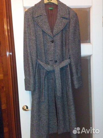 f83d8e601bf Пальто демисезонное женское Benetton б у коричн купить в Москве на ...