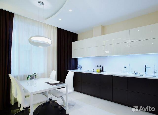 Кухня в белом цвете в квартире