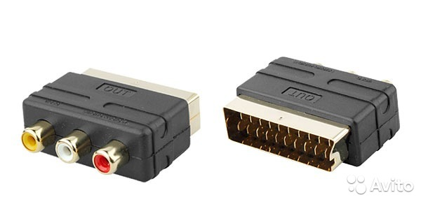 AV adapter Scart. Xbox/Playstation-Sega/Dendy-DVD— фотография №1