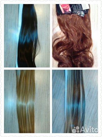 Волосы на заколках авито