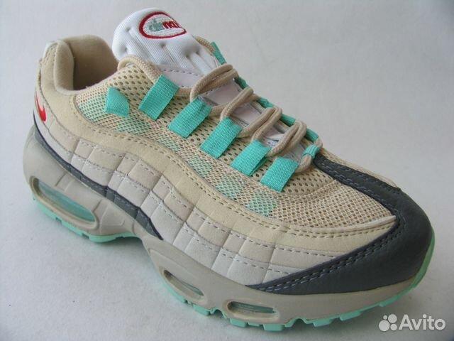 baf4b4bb Кроссовки Nike Air Max 95 Серые Лазур. петли 37 | Festima.Ru ...