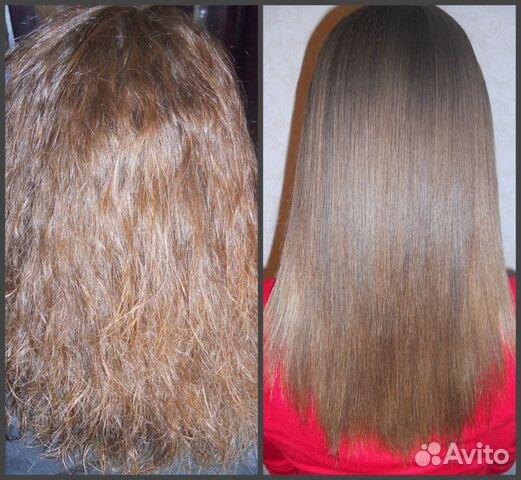 Кератиновое выпрямление густых волос