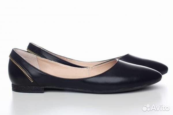 ebba4a0563a1 Новые кожаные черные балетки