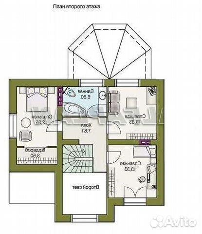 Коттедж 140 м² на участке 10 сот. 89204459938 купить 8
