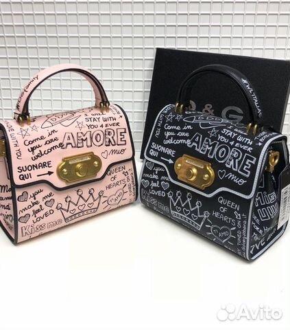 c6078d4fad13 Сумка Dolce gabbana Welcom Box D&G Клатч с принто купить в Москве на ...