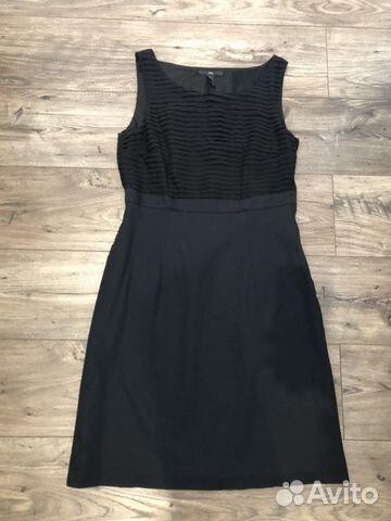 57d6682639a Платье офисное чёрное H M (M) купить в Москве на Avito — Объявления ...
