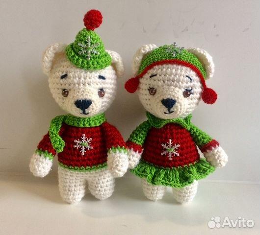 игрушки вязаные крючком белые мишки Festimaru мониторинг объявлений
