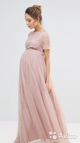 ba3a28f0806 Фантастическое Вечернее платье для беременной