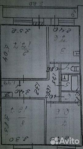 Продается трехкомнатная квартира за 1 500 000 рублей. Свердловская обл, г Нижняя Тура, ул Карла Маркса, д 64.