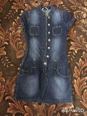 Куртка джинсовая, кардиган и платья купить 10