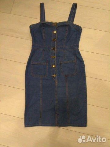 Платье сарафан джинсовый стрейч 89210057775 купить 3