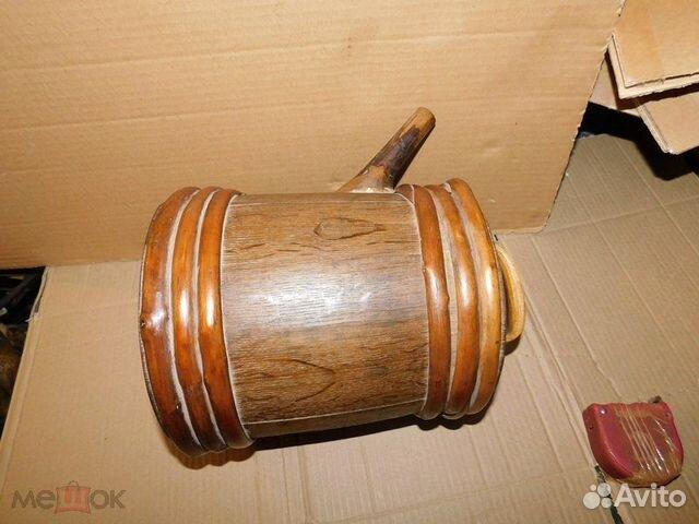 Старинный пивной-квасной дубовый бочонок 4-5 л  89065103360 купить 7