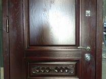 Металлическая дверь с отделкой дубом + резьба — Ремонт и строительство в Москве