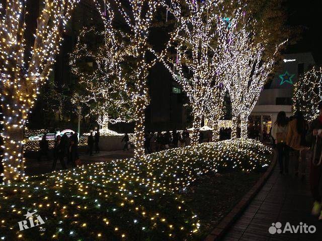 Гирлянды на дерево новогоднее оформление  89613169763 купить 8