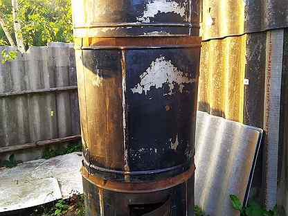 Печка круглая железная