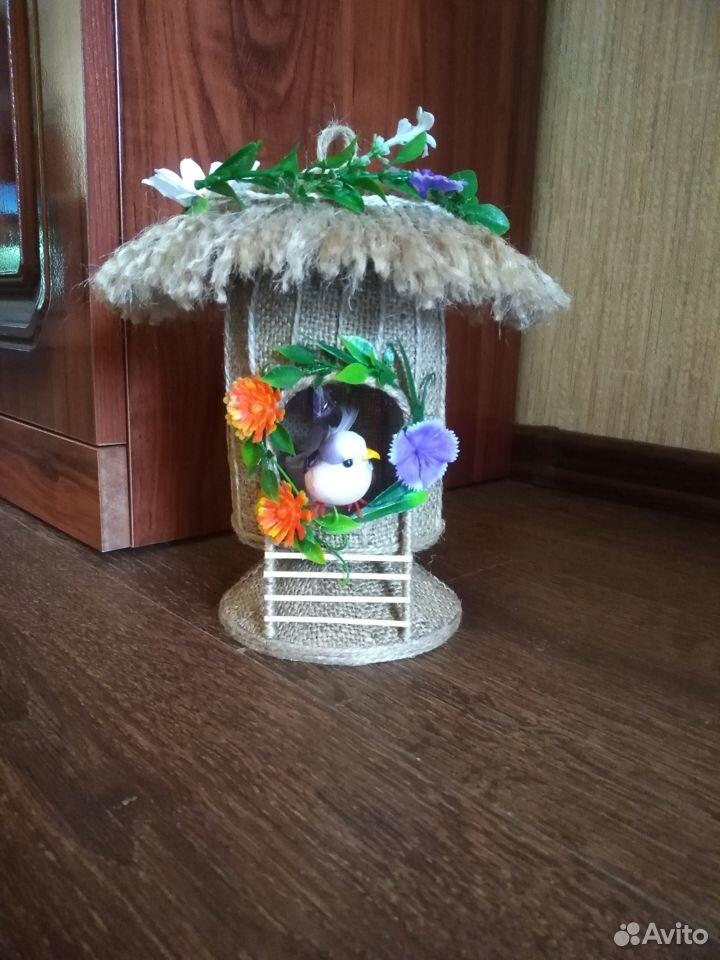 Домик из джута для украшения интерьера  89042052967 купить 1