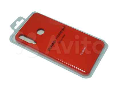 Чехол-накладка для huawei Y8P silicone case красный (1)
