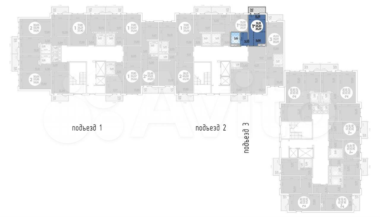 Квартира-студия, 25.3 м², 8/14 эт.  88613258698 купить 1