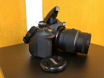 Nikon D3200 + сумка, документы, флеш 32гб