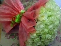 Цветы, букет 101 роза, 50 см. Доставка