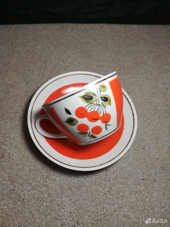 Чайные пары Рябина СССР завод Полонне, 80-е 89003463073 купить 3