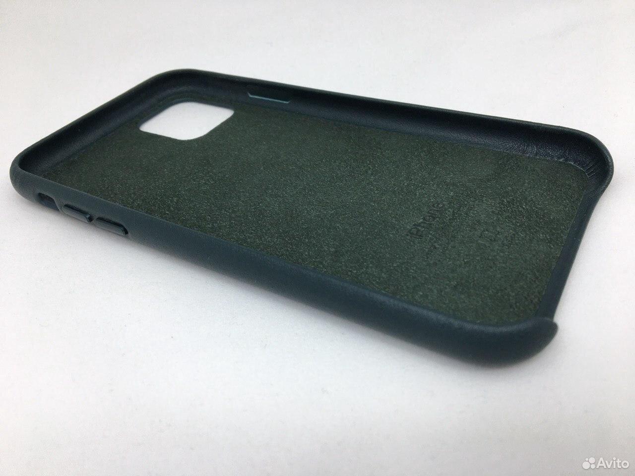 Кожаный чехол Leather Case Apple iPhone 11 Green  89112002770 купить 4
