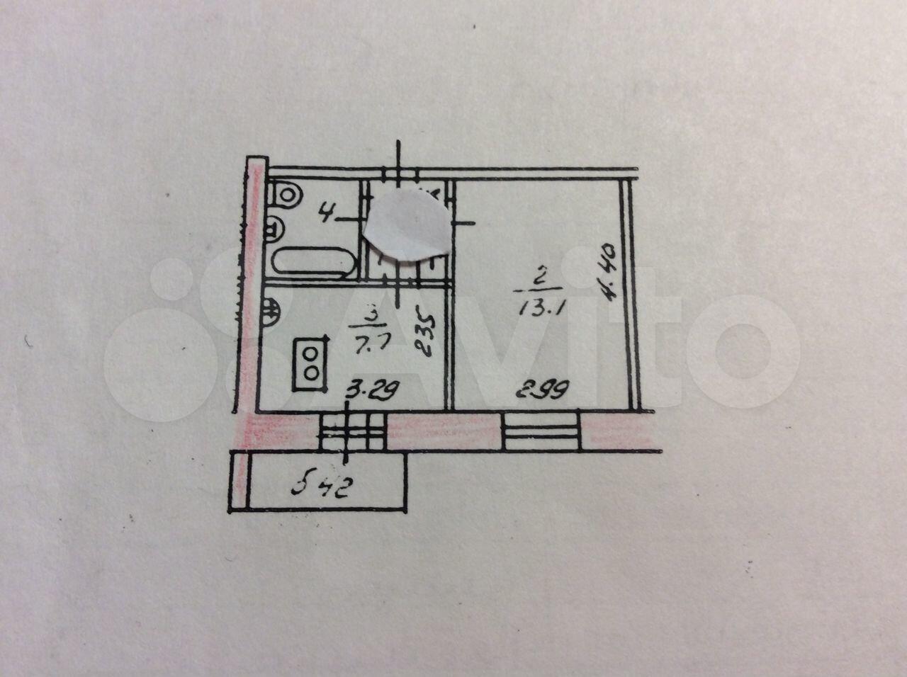 1-к квартира, 30 м², 7/9 эт.  89613359205 купить 1