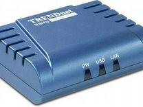 Принт-сервер trendnet TE100-P1U. Новый. Оригинал
