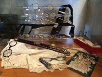 Большая коллекция старинных лорнетов